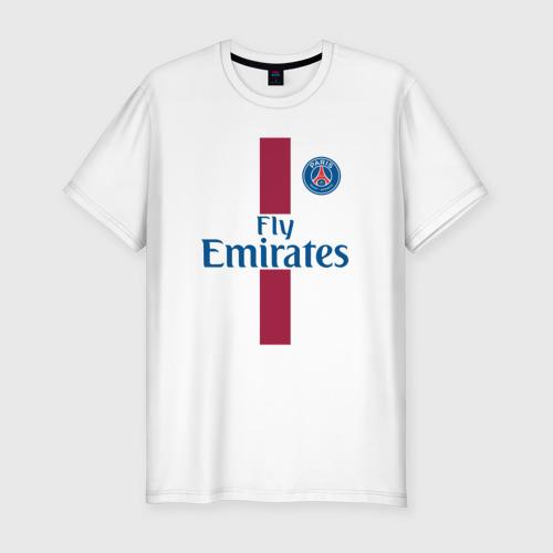 Мужская футболка хлопок Slim Пари Сен-Жермен 2018