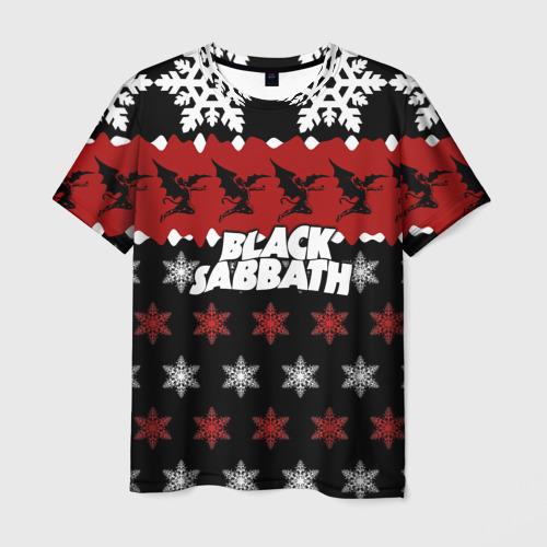 Мужская футболка 3D Праздничный Black Sabbath