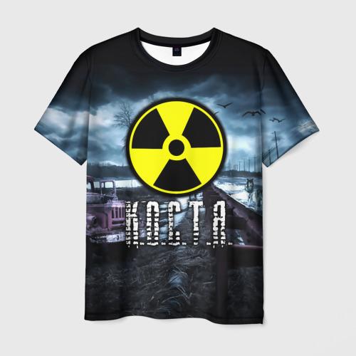 Мужская футболка 3D S.T.A.L.K.E.R. - К.О.С.Т.Я.