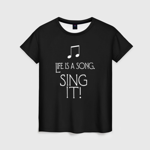 Женская футболка 3D singer