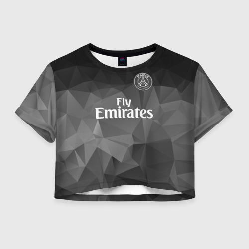 Женская футболка Crop-top 3D PSG 2018 Original 5