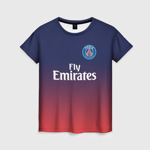 Женская футболка 3D PSG 2018 Original 12