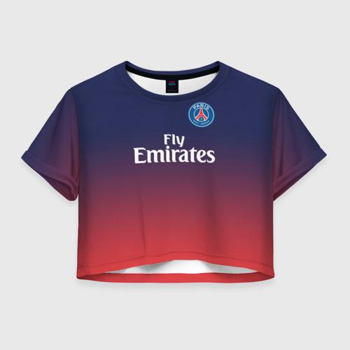 Женская футболка Crop-top 3D PSG 2018 Original 12