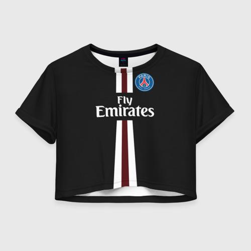 Женская футболка Crop-top 3D PSG 2018 Original 15