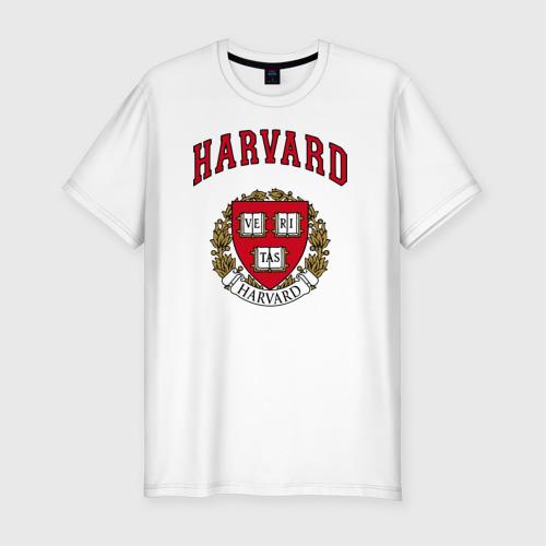Мужская футболка хлопок Slim Harvard university