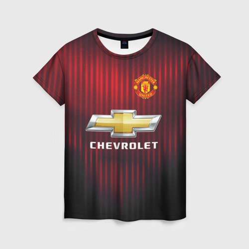Женская футболка 3D Manchester United 2018 red