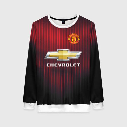 Женский свитшот 3D Manchester United 2018 red