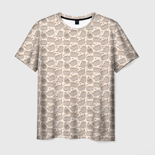 Мужская футболка 3D Pusheen Pattern