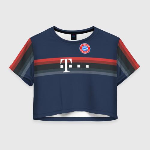 Женская футболка Crop-top 3D FC Bayern 2018 Original 5