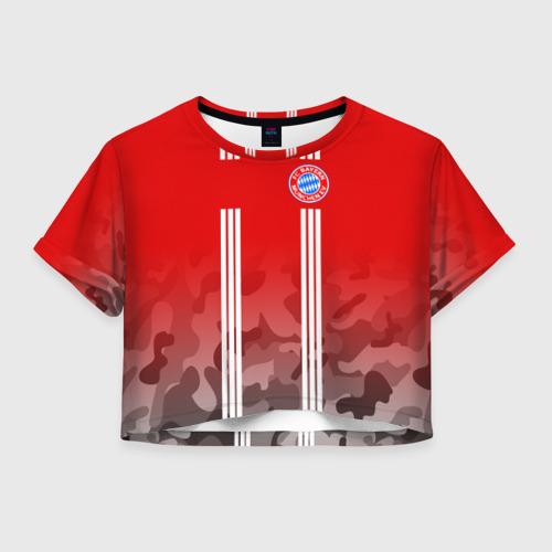 Женская футболка Crop-top 3D FC Bayern 2018 Original 7