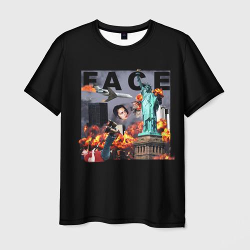 Мужская футболка 3D Face