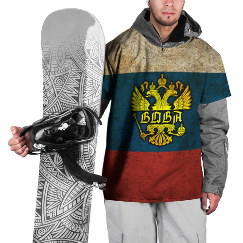 Накидка на куртку 3D Вова в гербе, на флаге РФ