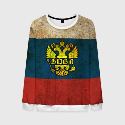 Мужской свитшот 3D Вова в гербе, на флаге РФ