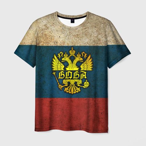 Мужская футболка 3D Вова в гербе, на флаге РФ