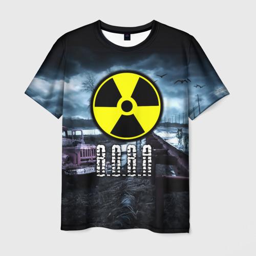 Мужская футболка 3D S.T.A.L.K.E.R. - В.О.В.А.