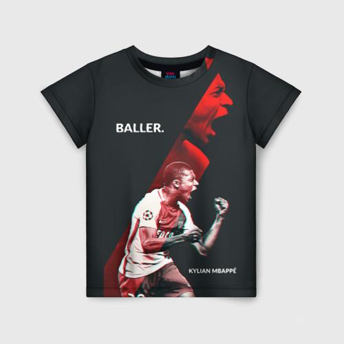 Детская футболка 3D Kylian Mbappe