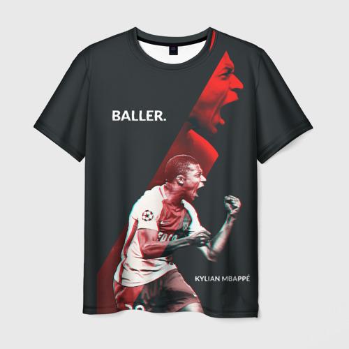 Мужская футболка 3D Kylian Mbappe