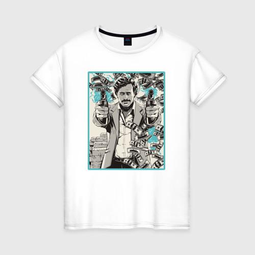 Женская футболка хлопок Пабло Эскобар