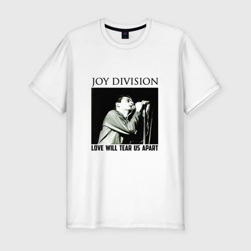 Мужская футболка хлопок Slim LOVE  WILL  TEAR  US  APART