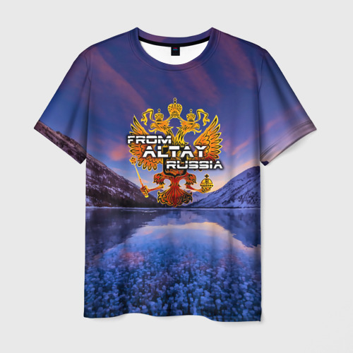 Мужская футболка 3D From Altay Russia