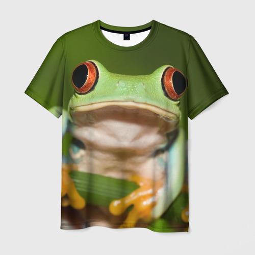 Мужская футболка 3D Лягушка