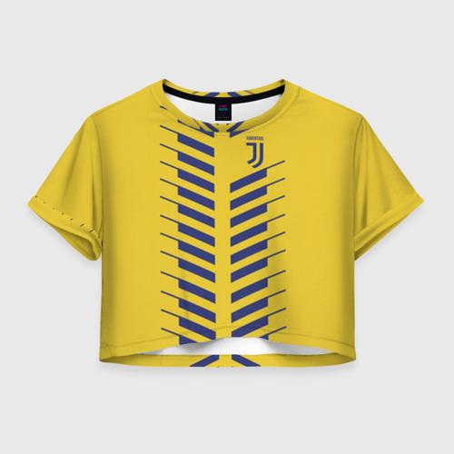 Женская футболка Crop-top 3D Juventus 2018 Creative 1