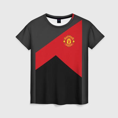 Женская футболка 3D Manchester United 2018 19