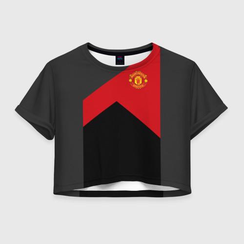 Женская футболка Crop-top 3D Manchester United 2018 19