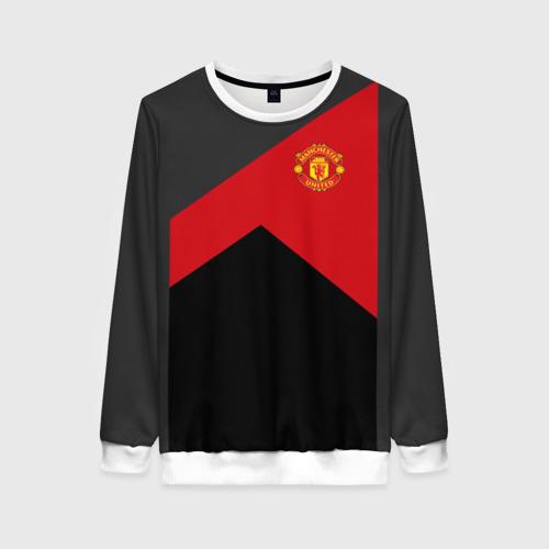 Женский свитшот 3D Manchester United 2018 19