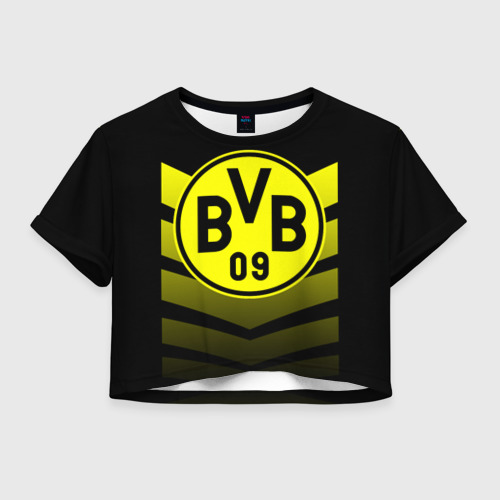 Женская футболка Crop-top 3D FC Borussia 2018 Original 15