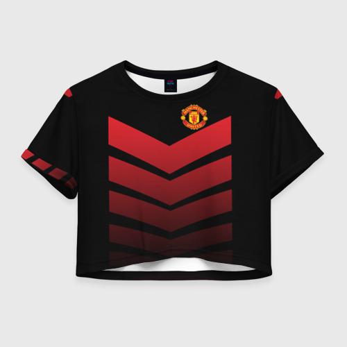 Женская футболка Crop-top 3D Manchester United 2018 Arrow