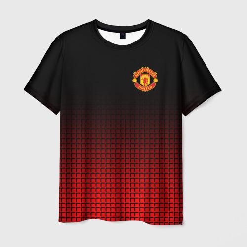 Мужская футболка 3D МАНЧЕСТЕР ЮНАЙТЕД | FCMU | MANCHESTER UNITED