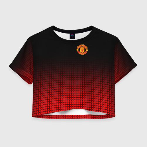 Женская футболка Crop-top 3D Manchester United 2018 22
