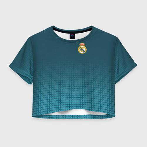 Женская футболка Crop-top 3D Real Madrid 2018 14