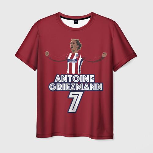 Мужская футболка 3D Атлетико Мадрид Гризманн 2018