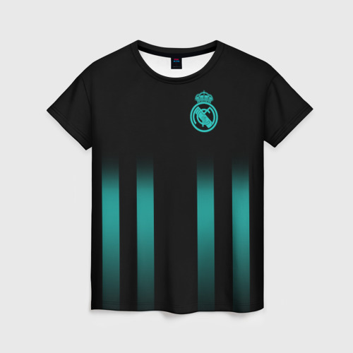 Женская футболка 3D Real Madrid 2018 Line