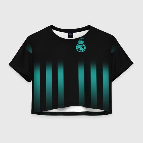 Женская футболка Crop-top 3D Real Madrid 2018 Line