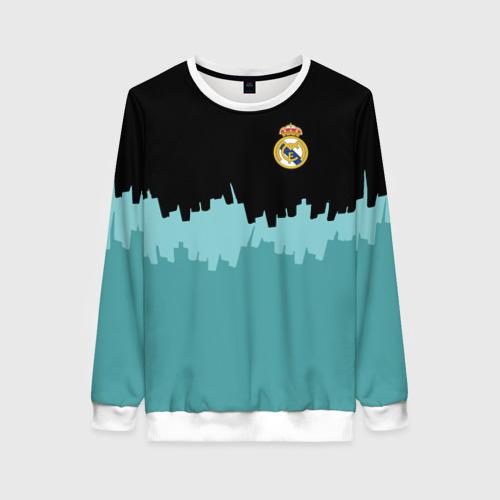 Женский свитшот 3D Real Madrid 2018 Paints