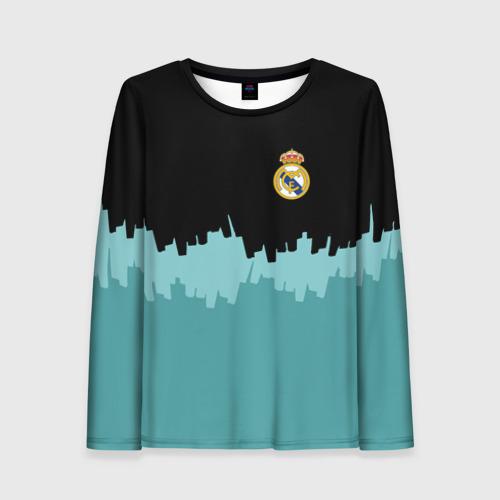 Женский лонгслив 3D Real Madrid 2018 Paints