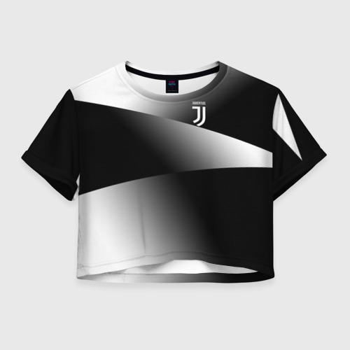 Женская футболка Crop-top 3D Juventus 2018 Original 9