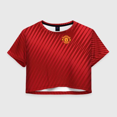 Женская футболка Crop-top 3D Manchester United Sportwear