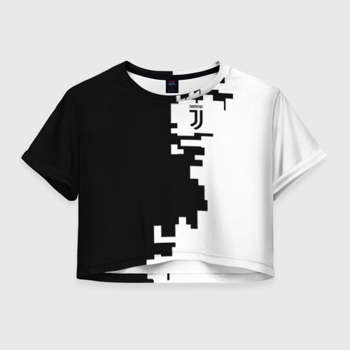 Женская футболка Crop-top 3D Juventus 2018 Geometry Sport