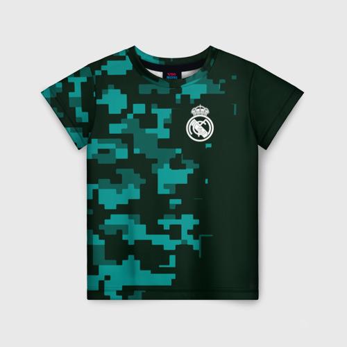 Детская футболка 3D Real Madrid 18 Military Sport