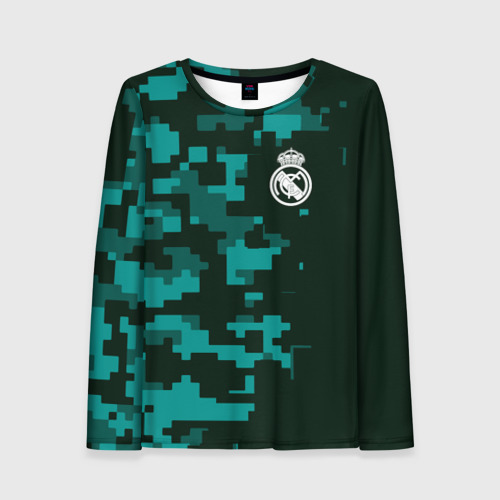 Женский лонгслив 3D Real Madrid 18 Military Sport