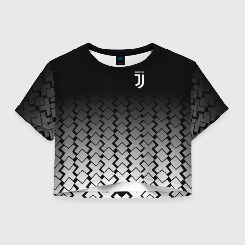 Женская футболка Crop-top 3D Juventus 2018 X Sport