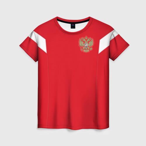 Женская футболка 3D Россия чемпионат мира 2018