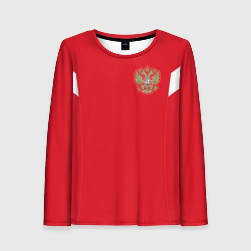 Женский лонгслив 3D Россия чемпионат мира 2018