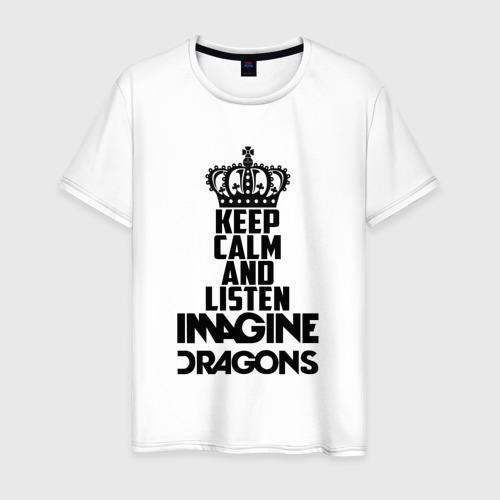 Мужская футболка хлопок Keep calm and listen ID