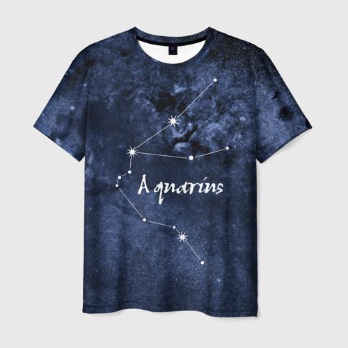 Мужская футболка 3D Водолей (Aquarius)