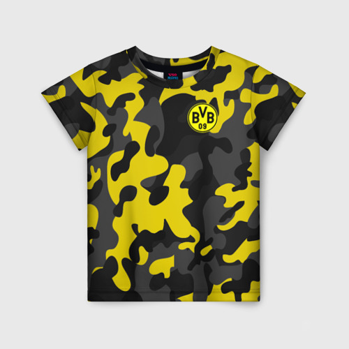 Детская футболка 3D Borussia 2018 Military Sport